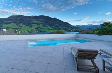 345 m2 country house villa with a total lake and mountain view  in Merlischachen SZ